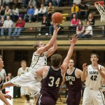 Ilya Pinchuk | Courtesy Vandal forward Stephen Madison drives for a basket Saturday in Memorial Gym during Idaho's 77-71 exhibition win over Seattle Pacific. Madison scored 28 points, a career-high for the Portland native.