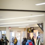 Jesse Hart   Argonaut Students on the second floor of the University of Idaho Commons walk below a surveillance camera. An institution-wide policy is being proposed to create standards regarding the surveillance equipment and various privacy protection guidelines.