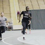 Andrew Jenson   Argonaut  Sprinters Paul Matejcek (left) and Benjamin Ayesu-Attah (right) prep for the 2015 track and field indoor season. Ayesu-Attah participated in the 2014 indoor season, in which he earned two first-team All-WAC honors and one Second-Team All-WAC honor.