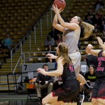 File photo by Nathan Romans | Argonaut Senior guard Stacey Barr elevates to the basket during Idaho's 71-58 win over Eastern Washington University Saturday in the Cowan Spectrum.