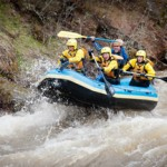 University of Idaho Outdoor Program | Courtesy Rafters brave the rapids during the University of Idaho Outdoor Program's 2012 Potlatch River raft trip. The trip is scheduled again for April 4 although low levels of snow might force the trip to a new location. The trip is open to all students and costs $50.