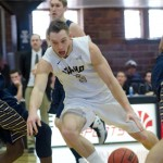 Senior guard Connor Hill dribbles down the key during Idaho's 80-73 Senior Day win over Montana State Saturday in the Memorial Gym. Idaho plays Weber State at 6 p.m. Thursday in Ogden, Utah, and Idaho State at 6 p.m. Saturday in Pocatello.