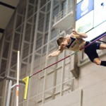 Senior Dylan Watts clears the pole during the 2012 track and field season. Watts won the pole vault event at the Big Sky Indoor Track and Field Championship despite missing most of last year with a shoulder injury.