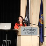 Genie Tran | Argonaut  Yazmin Garcia Rico, Student Action with Farmworkers Youth Director & National Farmworker Awareness Week Coordinator, discussed about the rights that farmworkers deserve by reflecting on her life and sharing her experience with UI students.