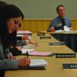 Alex Brizee | Argonaut  ASUI Sen. Zoe Ball listened to senators discuss diversity, WUE and intellectual property Wednesday night.