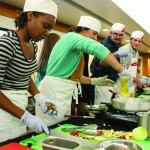 Students, chefs compete in cooking competition at Bob's Place Wednesday