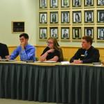 Alex Brizee | Argonaut  ASUI senators listen during an ASUI Senate meeting Dec 2. where representatives discussed a resolution that would encourage instructors to post gradus on Blackboard.