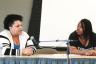 Mamta Kandel | Argonaut  Academic Success Counselor Jessica Samuels and UI student Jessy Forsmo-Shadid spoke at the Black Lives Matters workshop on Thursday.